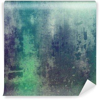 Fototapet av Vinyl Gammal struktur som abstrakt grungebakgrund. Med olika färgmönster: grön; lila (lila); grå; cyan