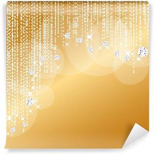 Fototapet av Vinyl Gold Diamond bakgrund