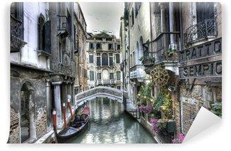 Fototapet av Vinyl Gondola, byggnader och bro, Venedig, Italien