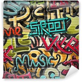 Fototapet av Vinyl Graffiti bakgrund