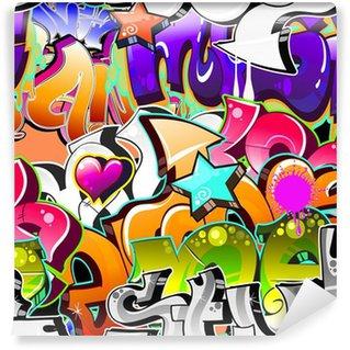 Fototapet av Vinyl Graffiti Urban Art Bakgrund. Sömlös konstruktion