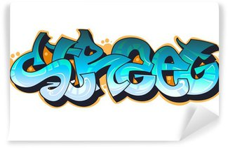 Fototapet av Vinyl Graffiti urban konst