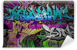 Fototapet av Vinyl Graffiti vägg Urban konst bakgrund