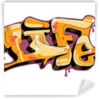 Fototapet av Vinyl Graffiti vektor textdesign