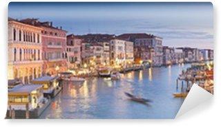 Fototapet av Vinyl Grand Canal, villor och gondoler, Venedig
