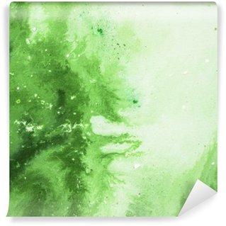 Fototapet av Vinyl Grön abstrakt konstbakgrund, textur målning.