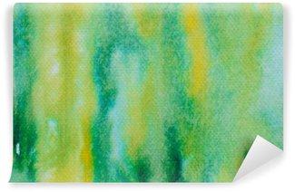 Fototapet av Vinyl Grön vattenfärg målad bakgrund