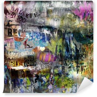 Fototapet av Vinyl Grungy stil rivna affisch bakgrund