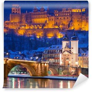 Fototapet av Vinyl Heidelberger Schloss im Winter