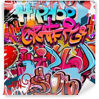 Fototapet av Vinyl Hip hop graffiti urban konst bakgrund