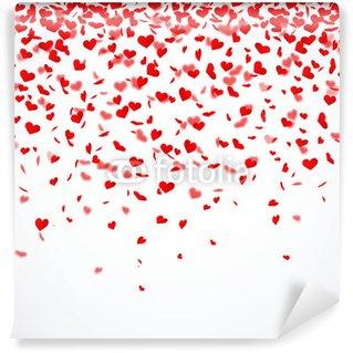 Fototapet av Vinyl Hjärta konfetti