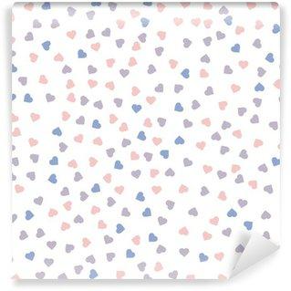Fototapet av Vinyl Hjärta seamless. Vektor illustration. Rosenkvarts och lugn färger.