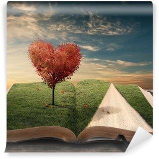 Fototapet av Vinyl Hjärta träd och boka