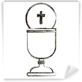 Fototapet av Vinyl Ikonen kopp. Religion gud ber tro och tro tema. Isolerad utformning. vektor