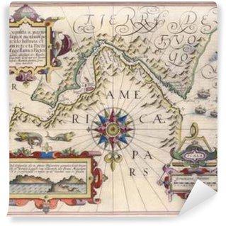 Fototapet av Vinyl Karta över Magellans sund
