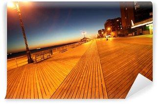 Fototapet av Vinyl Klassiska NY, kväll i Brighton Beach i Coney Island