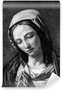 Fototapet av Vinyl Kristen tro - Jungfru Maria: Be