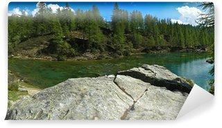 Fototapet av Vinyl Lake of the häxor (blå sjön) Devero Alp