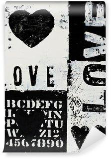 Fototapet av Vinyl Målning med hjärta