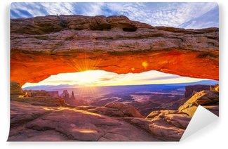 Fototapet av Vinyl Mesa-båge på soluppgången