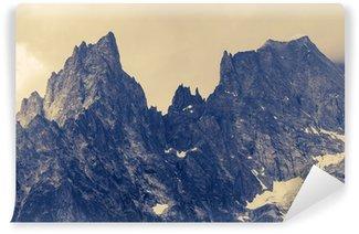 Fototapet av Vinyl Molnigt Alp Berg