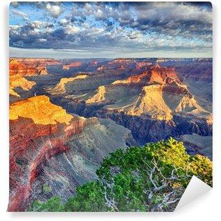 Fototapet av Vinyl Morgonljus vid Grand Canyon