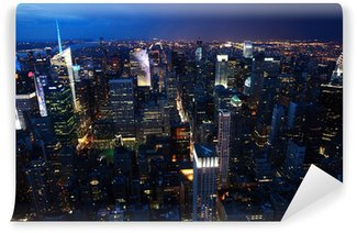 Fototapet av Vinyl Natt utsikt över Manhattan, NewYork Stad