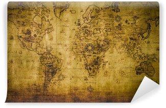 Fototapet av Vinyl old map