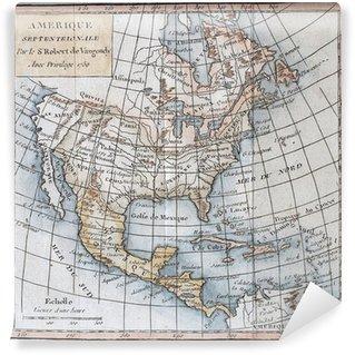 Fototapet av Vinyl Original antik nordamerika karta