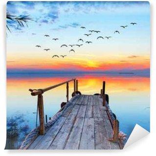 Fototapet av Vinyl Paisaje naturlig de un lago