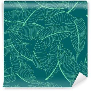 Fototapet av Vinyl Palm mönster