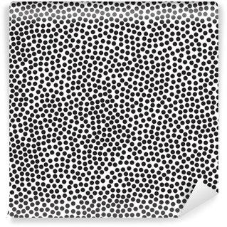 Fototapet av Vinyl Polka dot bakgrund, seamless mönster. Svartvitt. Vektor illustration EPS 10