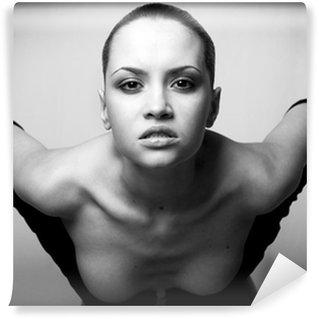Fototapet av Vinyl Porträtt av skönhet. Sexig modeflicka.