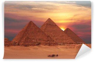 Fototapet av Vinyl Pyramid solnedgång