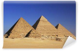 Fototapet av Vinyl Pyramiderna i Giza, Kairo