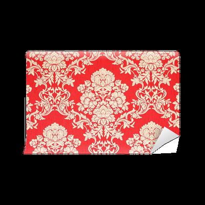 fototapet rote barock tapete mit enen rosenmuster pixers vi lever f r f r ndring. Black Bedroom Furniture Sets. Home Design Ideas