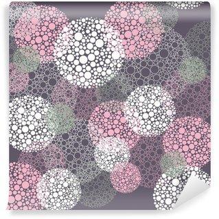 Fototapet av Vinyl Seamless abstrakt polka dot cirklar mönster