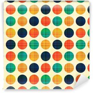 Fototapet av Vinyl Seamless abstrakt polka dotsmönster