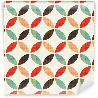 Fototapet av Vinyl Seamless geometrisk cirkelmönster