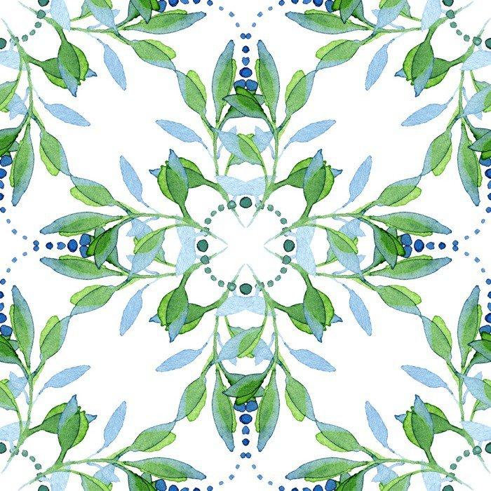 Fototapet av Vinyl Seamless vattenfärg blommiga mönster - Växter & blommor