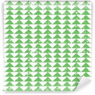 Fototapet av Vinyl Seamless vektor grunge mönster. Kreativa geometriska pastellgrönt bakgrund med rektanglar. Grunge konsistens med avgång, sprickor och ambrosia. Gammal stil vintagedesign. Grafisk illustration.