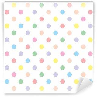 Fototapet av Vinyl Seamless vektor mönster bakgrund pastell färgstarka prickar