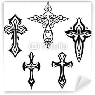 Fototapet av Vinyl Set kors, kors, tro, symbol, religion