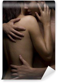Fototapet av Vinyl Sexig passionen mellan kvinna och man
