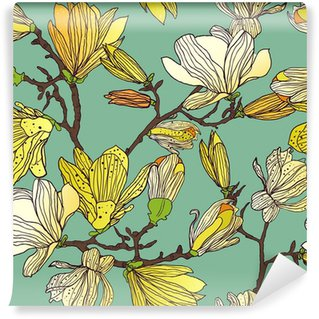 Fototapet av Vinyl Sömlös blommig textur