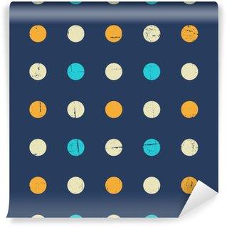 Fototapet av Vinyl Sömlös polka dot mönster