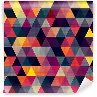 Fototapet av Vinyl Sömlös triangel bakgrund