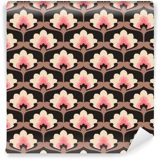 Fototapet av Vinyl Sömlös vintage blommiga mönster