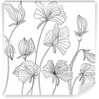 Fototapet av Vinyl Söta ärta blommor