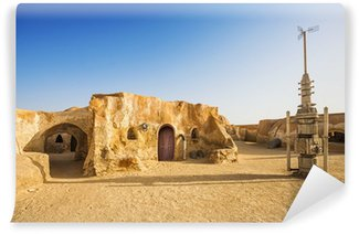 Fototapet av Vinyl Star wars movie dekoration i Saharaöknen, Tunisien